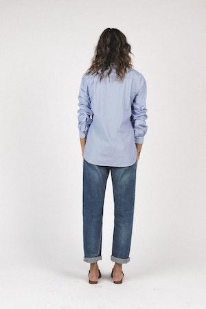 Grace classic shirt BLUE/WHITE STRIPE by Trovata - 4