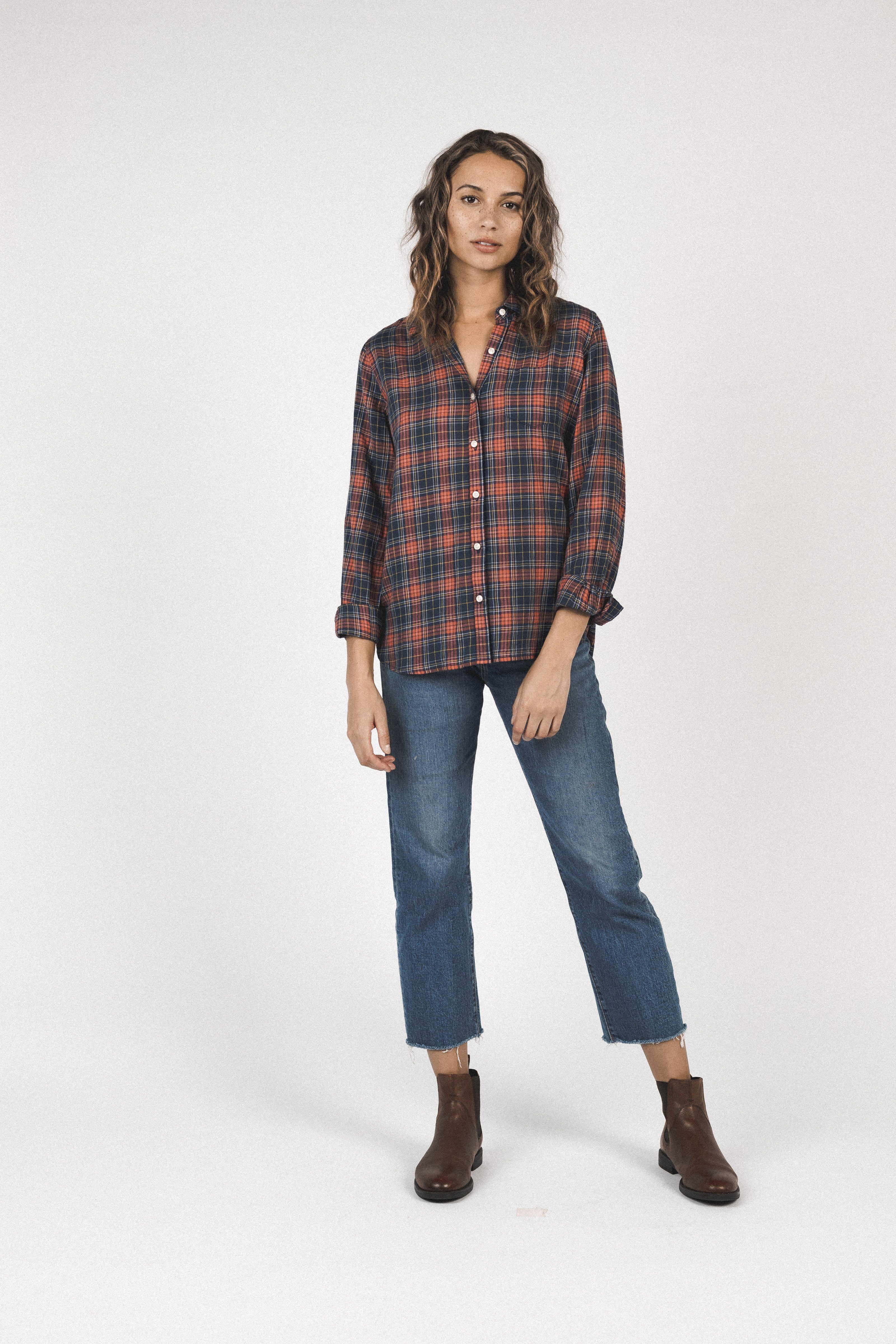 Grace Classic Shirt HIGHLAND PLAID by Trovata - 3