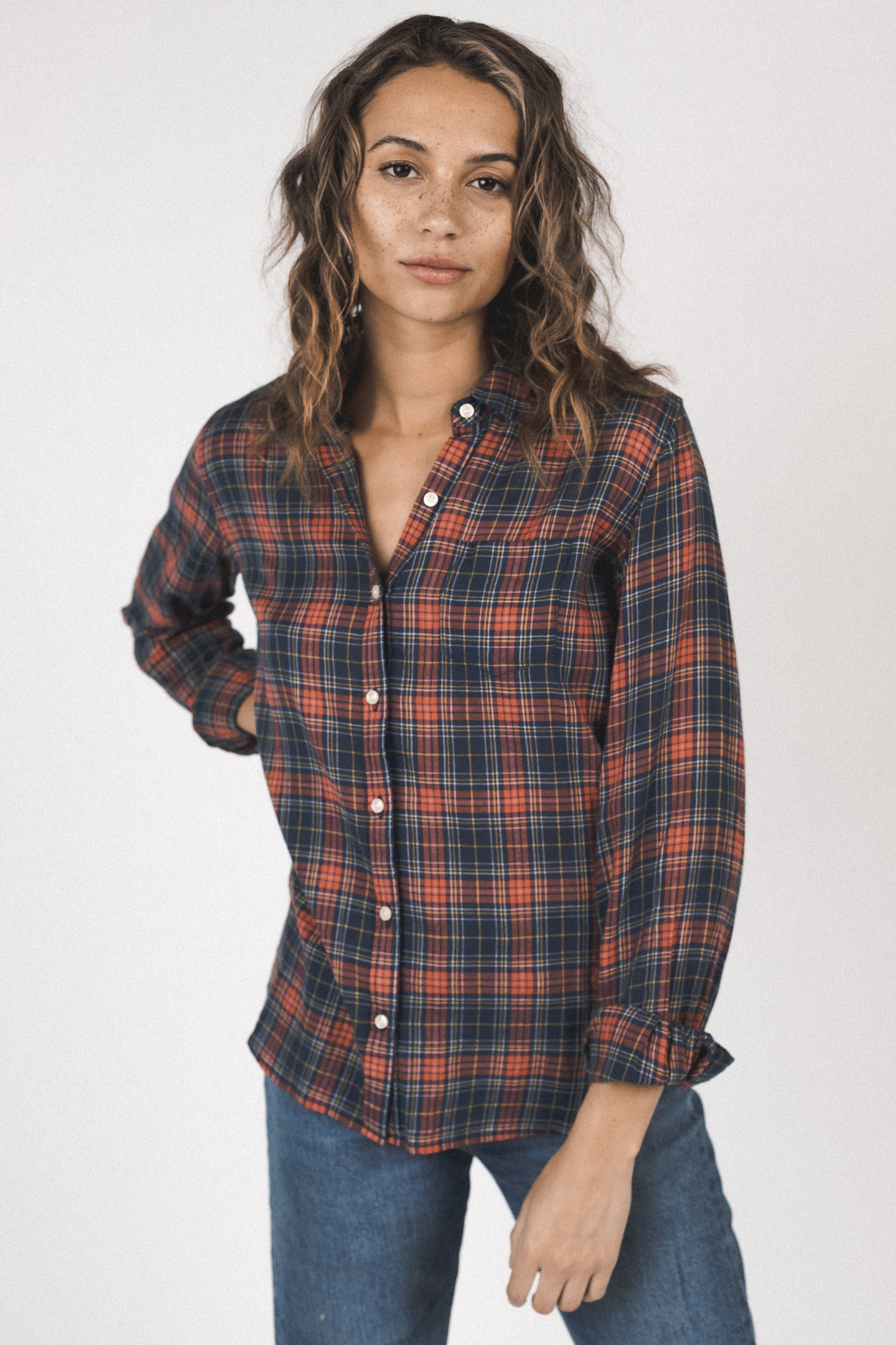 Grace Classic Shirt HIGHLAND PLAID by Trovata - 1