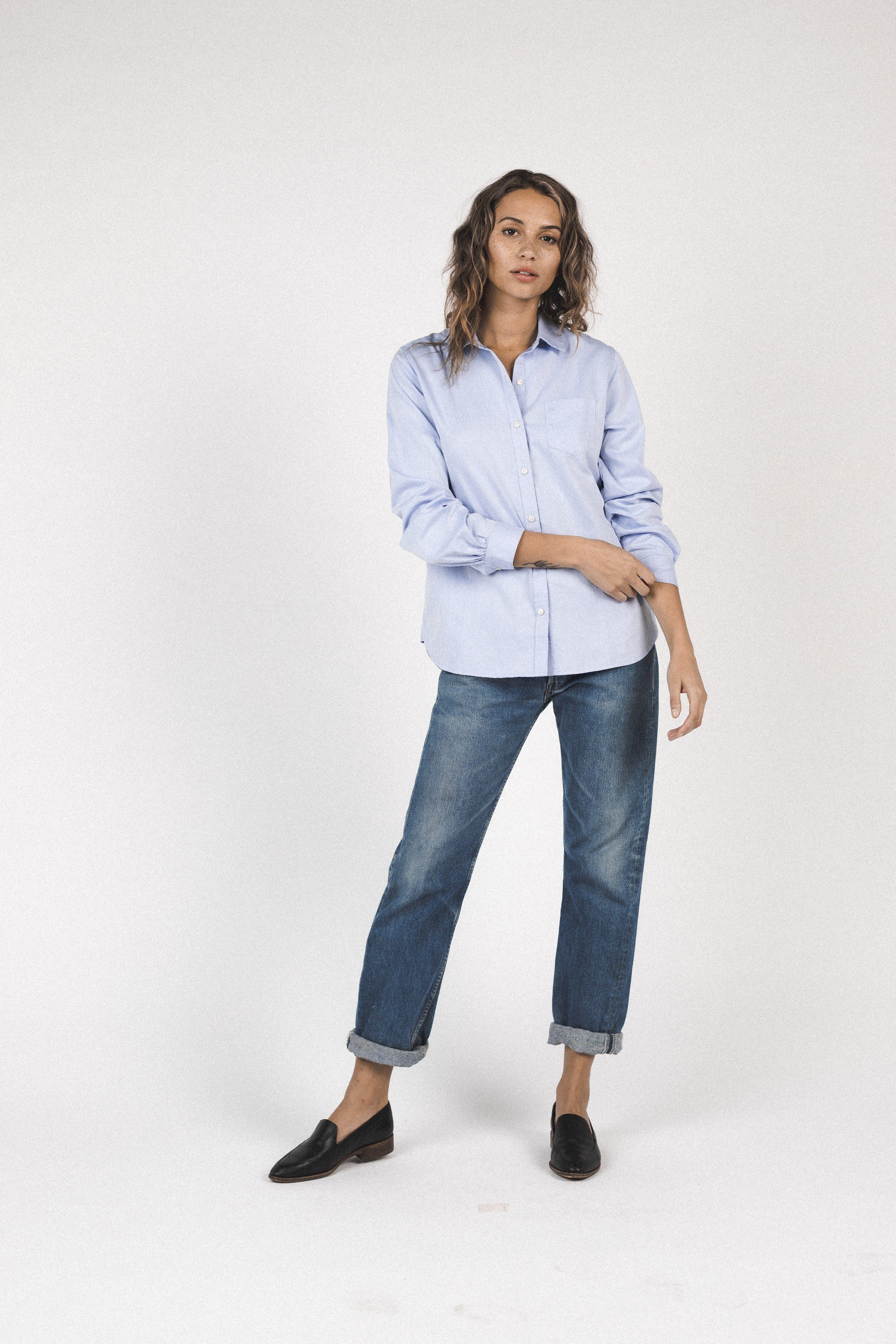Grace Classic Shirt LIGHT BLUE by Trovata - 3