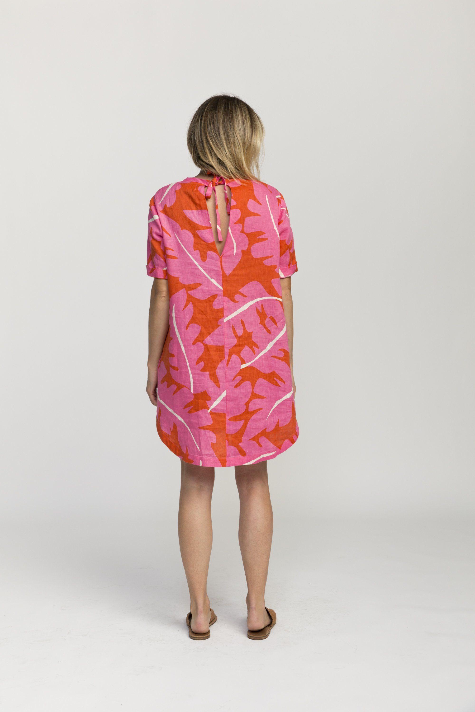 Raffi shirt dress PINK PALM PRINT by Trovata - 5