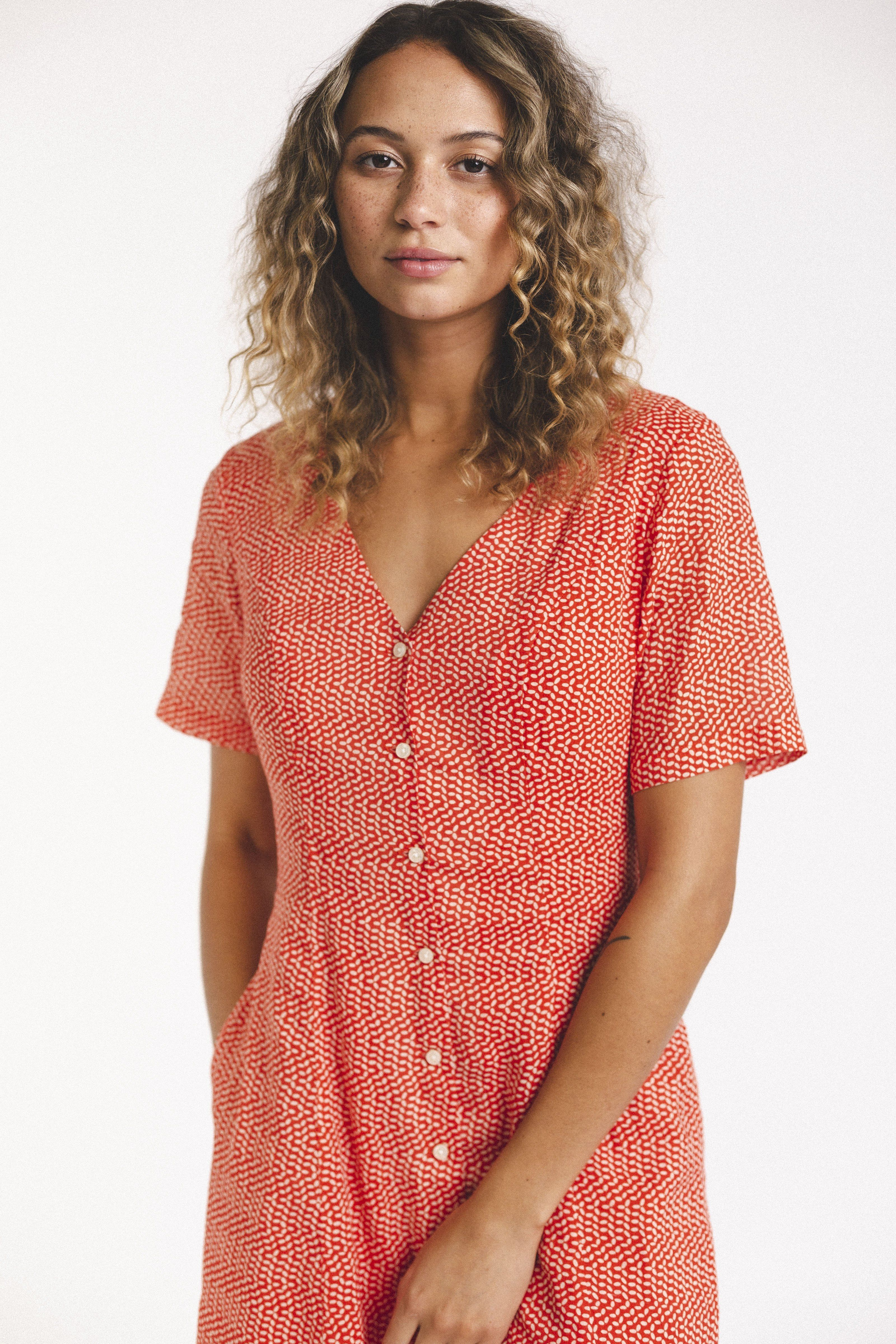 Roma Dress TOMATO SEED by Trovata - 3
