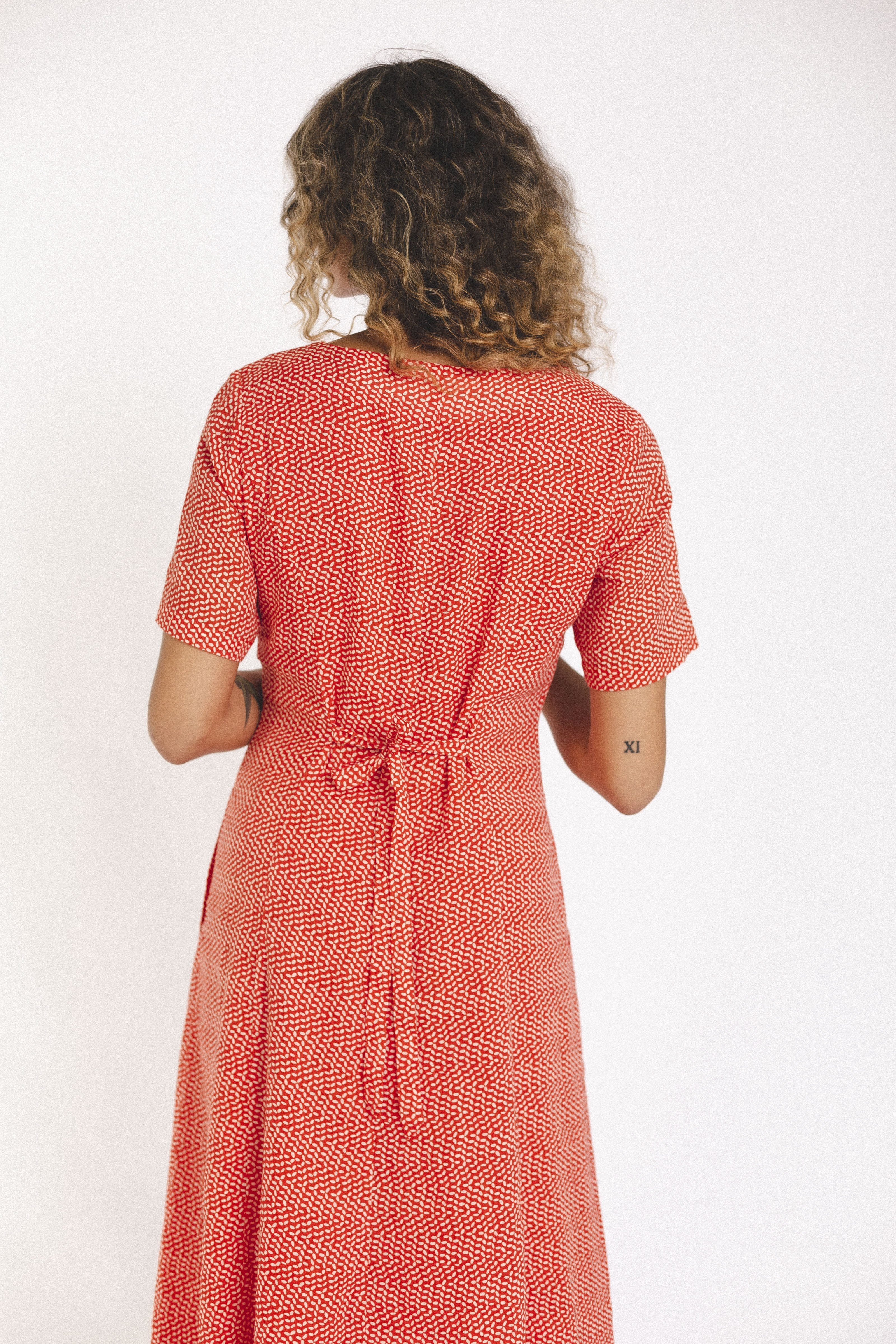 Roma Dress TOMATO SEED by Trovata - 2