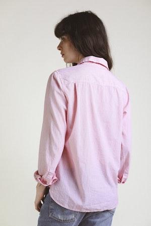 Grace Classic Shirt RED MICRO STRIPE by Trovata - 3