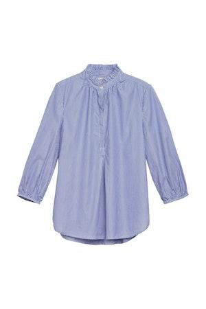 Sara henley shirt BLUE/WHITE STRIPE by Trovata - 1