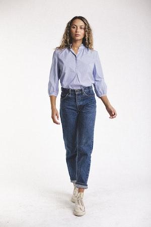 Sara henley shirt BLUE/WHITE STRIPE by Trovata - 4