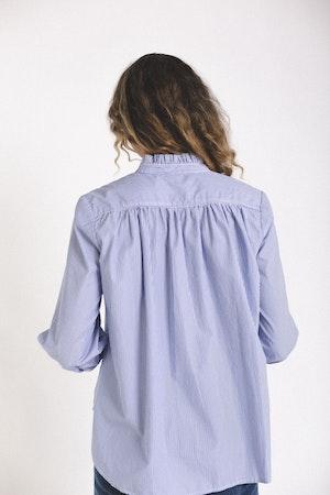 Sara henley shirt BLUE/WHITE STRIPE by Trovata - 3