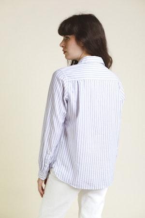 Grace Classic Shirt WHITE/BLUE STRIPE by Trovata - 4