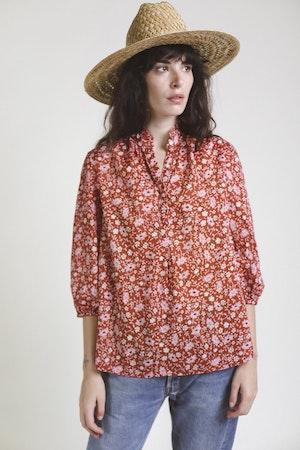 Sara Henley Shirt ROSE FLORAL by Trovata - 1