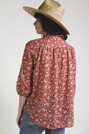 Sara Henley Shirt ROSE FLORAL by Trovata - 2