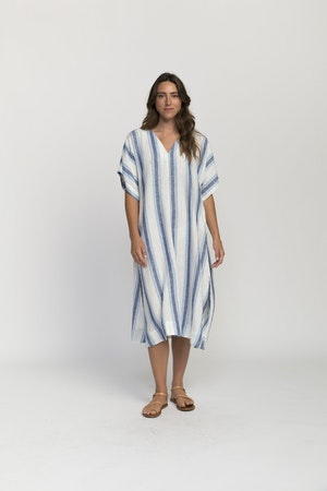 Hannah dress BLUE WIDE STRIPE by Trovata - 3
