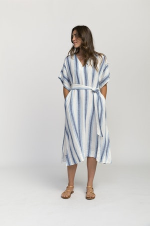 Hannah dress BLUE WIDE STRIPE by Trovata - 2