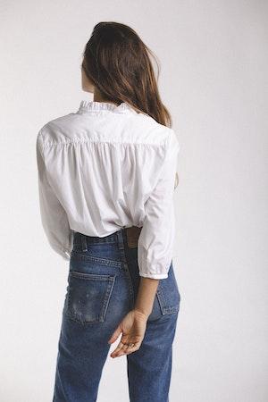 Sara henley shirt WHITE by Trovata - 4