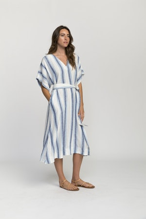 Hannah dress BLUE WIDE STRIPE by Trovata - 4