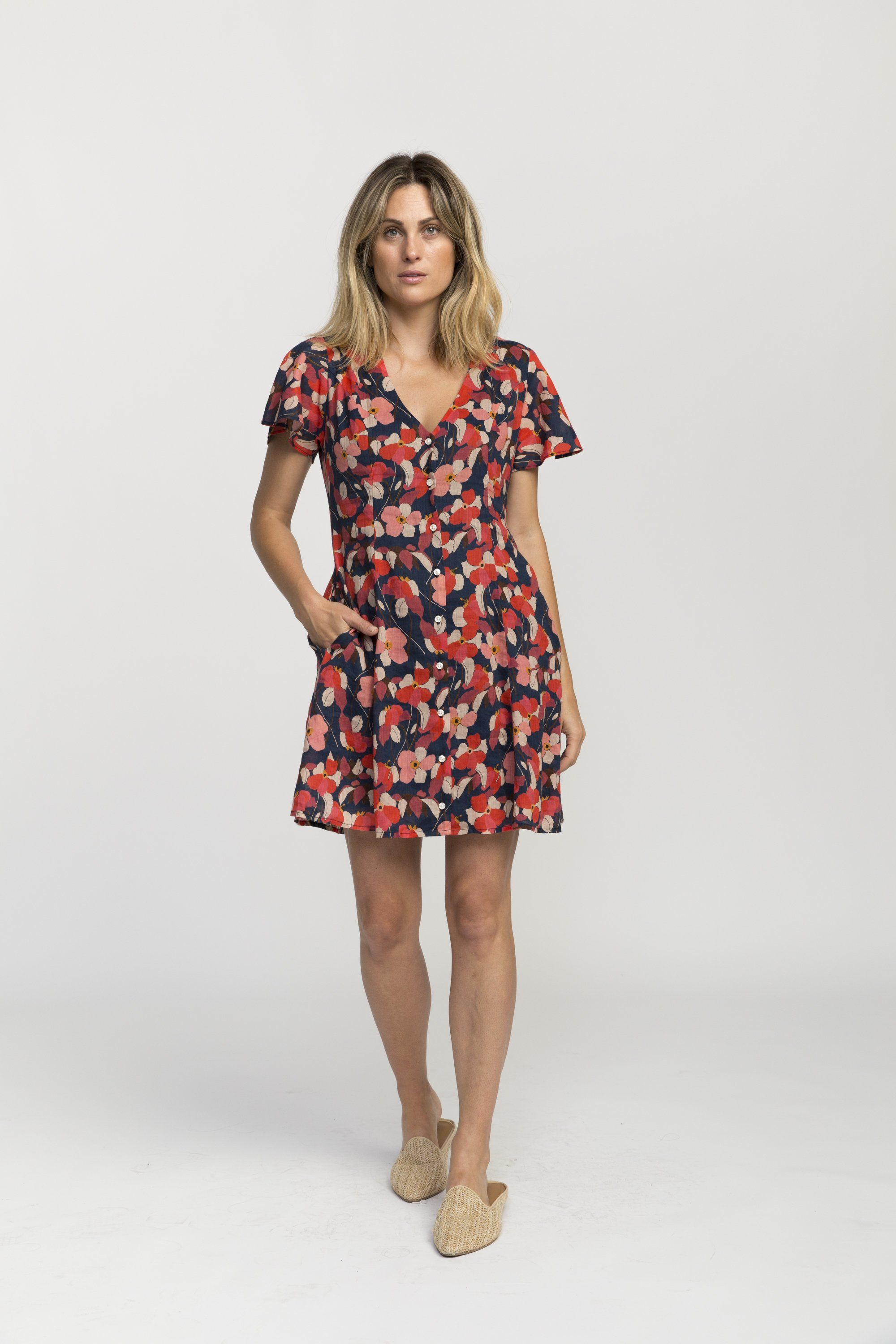 Sistine dress NAVY FLORAL by Trovata - 2