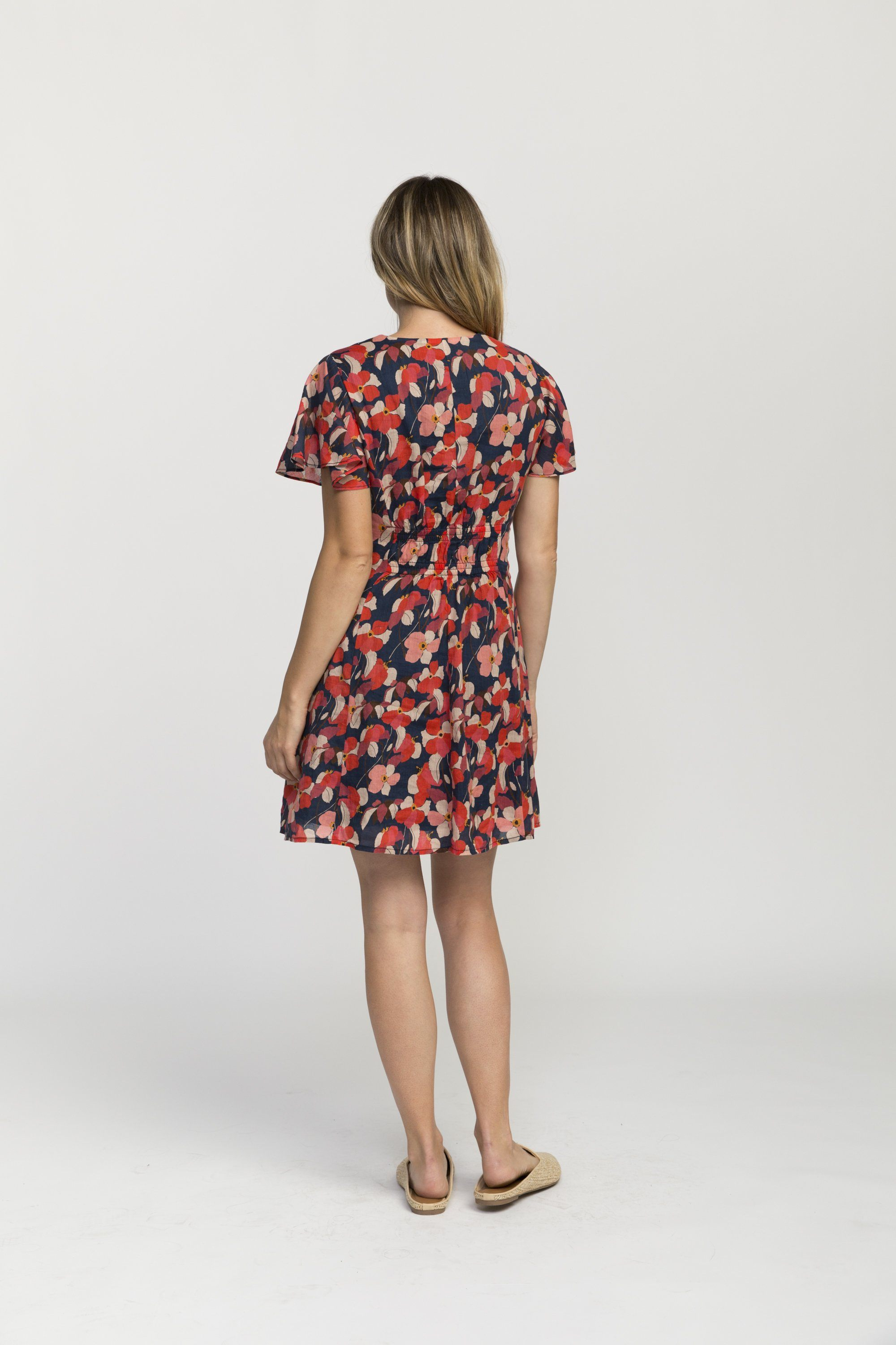 Sistine dress NAVY FLORAL by Trovata - 4