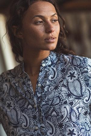 Helena Shirt NAVY PRINT by Trovata - 4