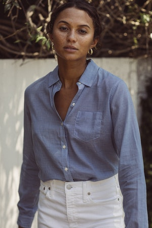Grace Classic Shirt BLUE HOUNDSTOOTH by Trovata - 1