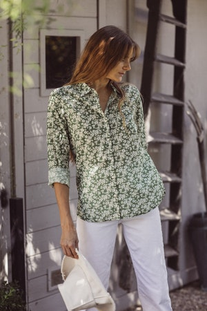 Grace Classic Shirt GREENBRIAR FLORAL by Trovata - 1