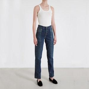Dark Blue Match Straight Leg Jean by E.L.V. Denim - 3