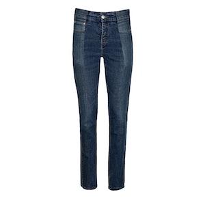 Dark Blue Match Straight Leg Jean by E.L.V. Denim - 1