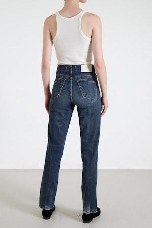 Dark Blue Match Straight Leg Jean by E.L.V. Denim - 4