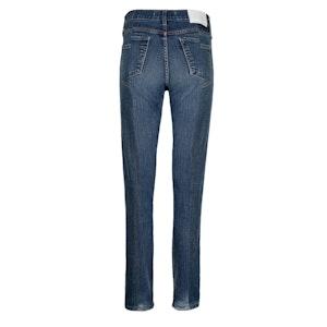 Dark Blue Match Straight Leg Jean by E.L.V. Denim - 2