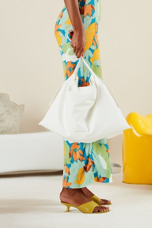 Vegan Puffin Tote in White by Simon Miller - 5