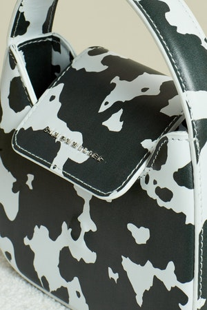 Vegan Mini Retro Bag in Mod Cow Print by Simon Miller - 4