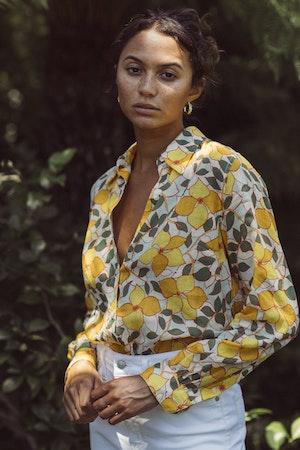 Jacquelin Shirt YELLOW GARLAND by Trovata - 2