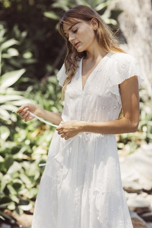 Kristi Dress WHITE EMBROIDERY by Trovata - 1