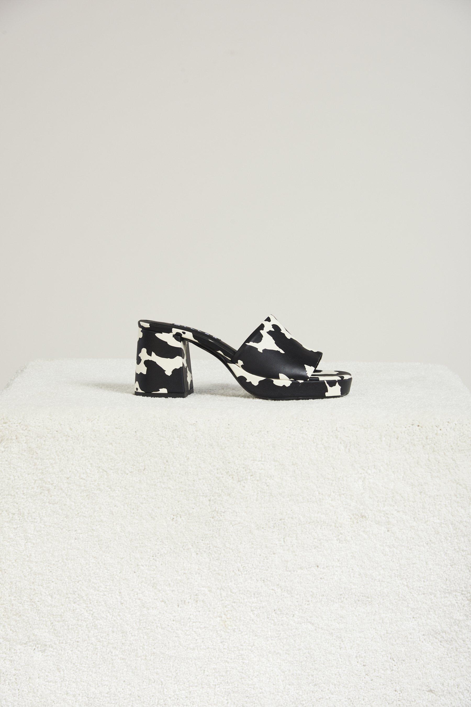 Stopper Heel In Cow Print by Simon Miller - 1