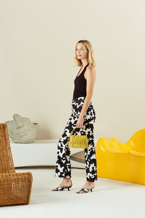 Cropped Bell Jean in Cow Print by Simon Miller - 4
