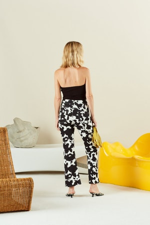 Cropped Bell Jean in Cow Print by Simon Miller - 3