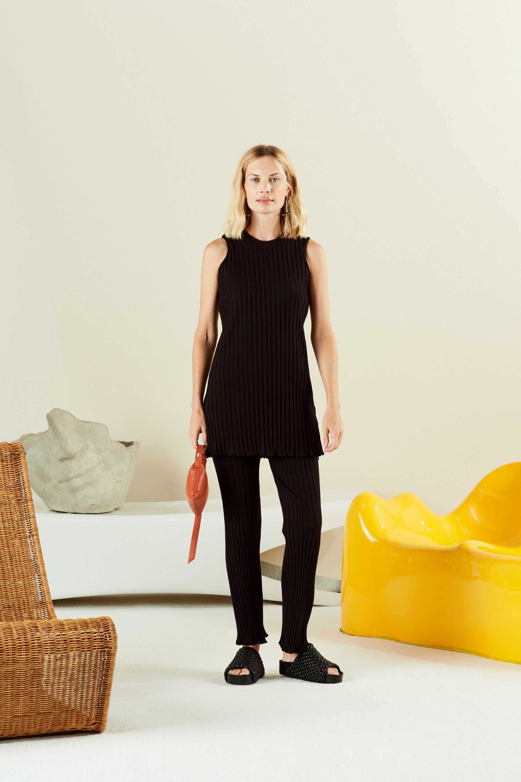 Aukai Tunic in Black by Simon Miller - 1
