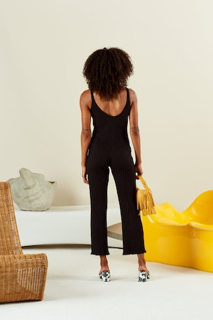 RIB MALO JUMPSUIT IN BLACK by Simon Miller - 2