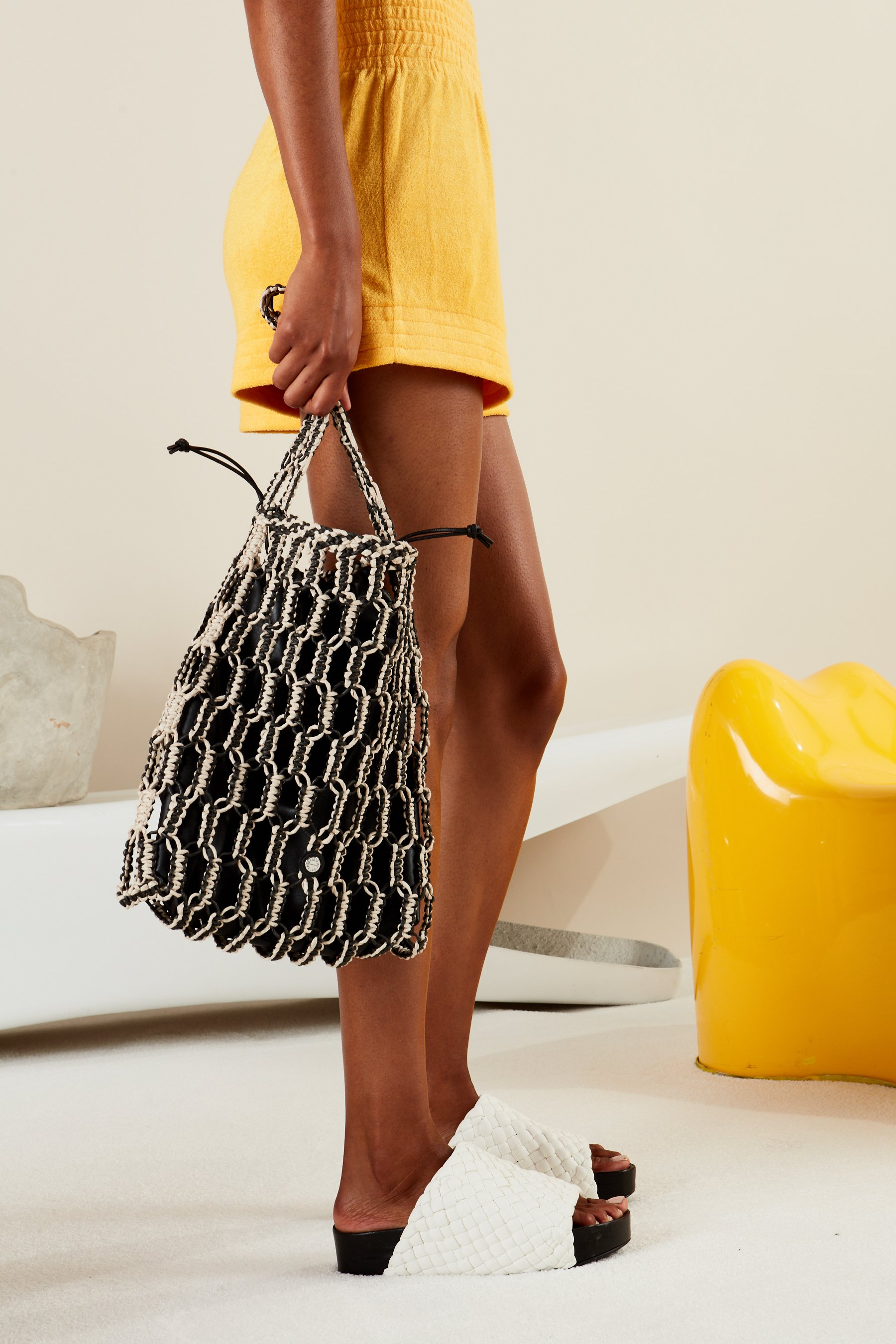 Tiki Tote in Black + Cliff by Simon Miller - 4