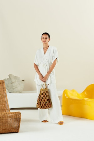 Tiki Tote in Chartreuse + Toffee by Simon Miller - 3