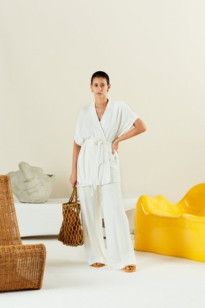 Tiki Tote in Chartreuse + Toffee by Simon Miller - 4