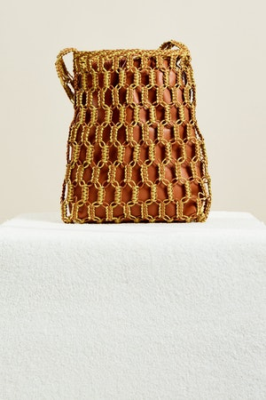 Tiki Tote in Chartreuse + Toffee by Simon Miller - 5