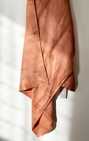 Papaya Mpatmos hand dyed silk scarf by Two - 1