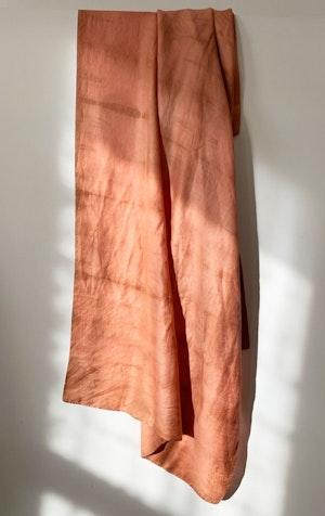 Papaya Mpatmos hand dyed silk scarf by Two - 2