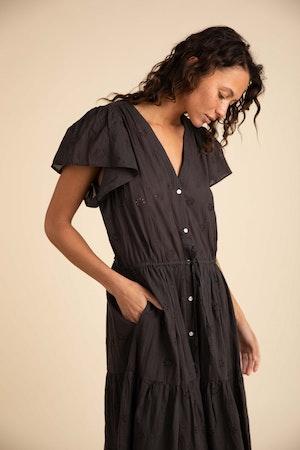Kristi Dress BLACK EMBROIDERY by Trovata - 1