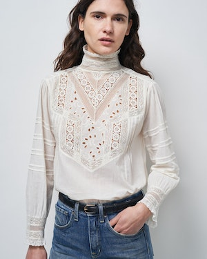 EVIE EMBROIDERED TOP by Nili Lotan - 2