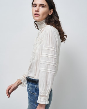 EVIE EMBROIDERED TOP by Nili Lotan - 4