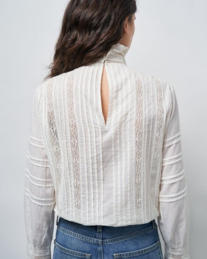 EVIE EMBROIDERED TOP by Nili Lotan - 3