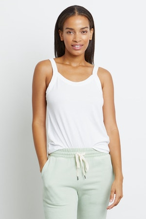 THE FITTED TANK - IVORY by Rails - 2