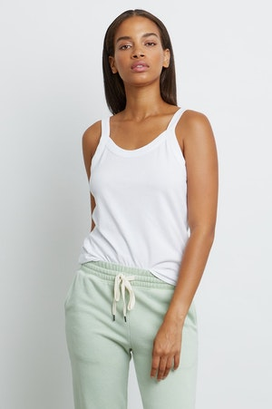 THE FITTED TANK - IVORY by Rails - 5