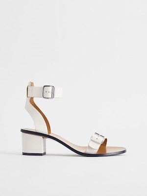 Carmen Ice White Ankle strap heels