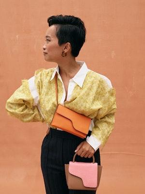 Montalcino Candy Pink Mini handbag by ATP Atelier - 5